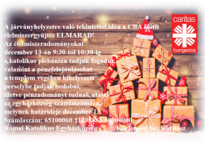 Karácsonyi élelmiszergyűjtés