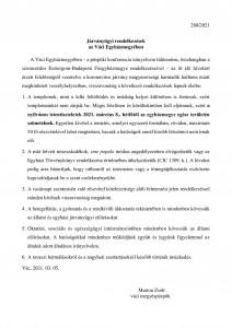 Járványügyi rendelkezések a Váci Egyházmegyében!