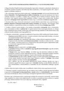 Járványügyi rendelkezés 2021.05.07.